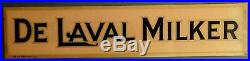 Vintage DE LAVAL MILKER 2 SIDED METAL AD SIGN & ENVELOPE Dairy Cow Cream Farm