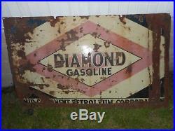 Vintage DIAMOND DX Gasoline Motor Oil PORCELAIN Gas Station Advertising SIGN