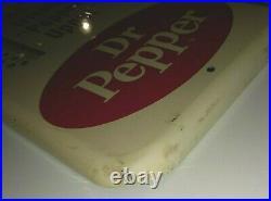 Vintage DR PEPPER Hot or Cold Metal THERMOMETER SIGN NOS Nice