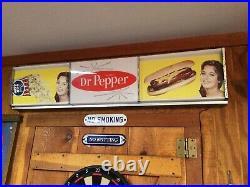 Vintage DR PEPPER Light Up Sign Movie Sign