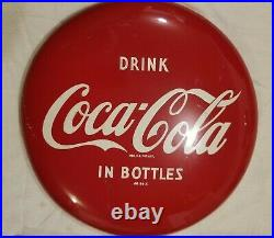 Vintage DRINK COCA COLA IN BOTTLES 12 Button Advertising SIGN AM 94 X