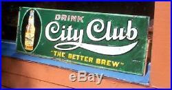Vintage Early Jacob Schmidt City Club Beer Brewery Metal Sign St Paul MN