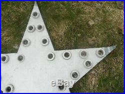 Vintage Early Original Lighted Flashing STAR SIGN Hotel Gas Station