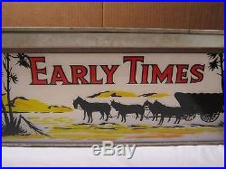 Vintage Early Times Kentucky Whiskey Lighted Store Sign Circa 1950's T