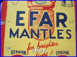 Vintage Efar Racek Mantles Porcelain Sign Petromax Coleman Lantern Very Old 1930