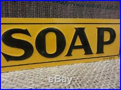 Vintage Embossed Good Will Soap Sign #3 Antique Old Goodwill Kitchen Bath 9485