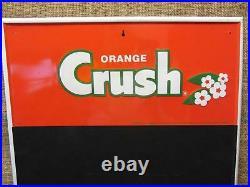 Vintage Embossed Orange Crush Sign Chalkboard Antique Old Soda Cola 9040