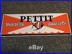 Vintage Embossed Pettit Marine Paints Sign