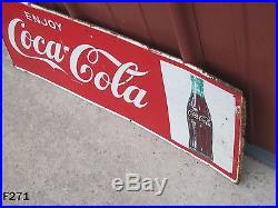 Vintage Enjoy Coca Cola Coke Drink Soda Pop Bottle Antique Sign Mca Advertising