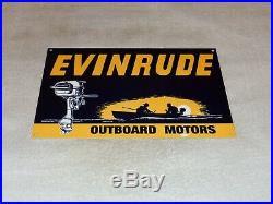 Vintage Evinrude Outboard Boat Motor 12 Metal Gasoline & Oil Sign! Pump Plate