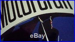 Vintage FORD MOTORCRAFT Spark Plug Metal Advertising STOUT Sign 30x17