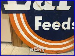 Vintage Farm Feed Sign 1958 Larro Feeds Sign Lynchburg Va Vintage Metal Sign