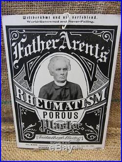 Vintage Father's Arent Medicine Sign Antique Signs Drug Store Display 8018