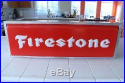 Vintage Firestone Lighted Dealer Sign, Double Sided