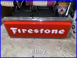 Vintage Firestone Lighted Sign