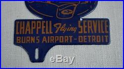 Vintage Flying Aviation Gasoline Porcelain Sign Gas Oil Airplane Plate Topper