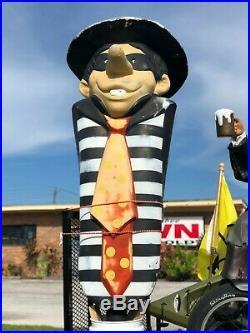 Vintage Full Size McDonald's Hamburgler Playground Statue 6' Tall