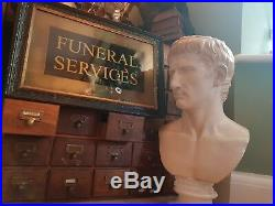 Vintage Funeral Undertakers Mortuary Autopsy Memento Mori Sign Morbid Curio