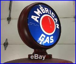 Vintage Gas Pump, Survivor Tokheim 39 Tall, 4 window, Standard, Globe, Sign