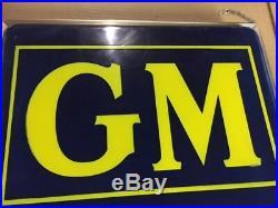 Vintage General Motors Lighted Sign / GM
