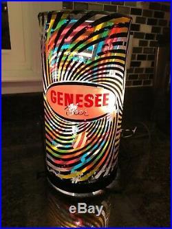 Vintage Genesee Beer Heat Motion Spinning Lamp Light Rotor Advertisement Sign