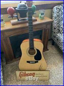 Vintage Gibson Guitar Amplifier Dealer Advertising Sign Guitar Stand