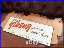 Vintage Gibson Guitar Amplifier Dealer Advertising Sign Guitar Stand Les Paul SG