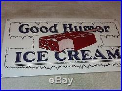 Vintage Good Humor Ice Cream Bar Truck 14 Porcelain Metal Gasoline & Oil Sign