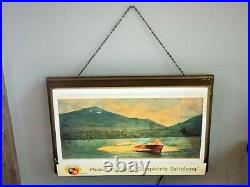 Vintage Griesedieck Bros. Lighted Beer Bar Advertising Sign Boating Skiing