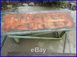 Vintage HTF ORANGE CRUSH SODA POP CRUSHY Metal Embossed PATINA Advertising SIGN