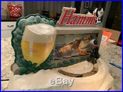 Vintage Hamm's Beer Advertising lighted sign Very Rare works! No Reserve