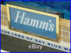 Vintage Hamm's Beer Light Bar Top Sign, Sky Blue Waters, Works, Nice