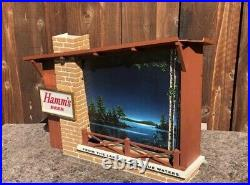 Vintage Hamms Starry Night Goblets Lighted Motion Beer Sign Cabin Style Bar