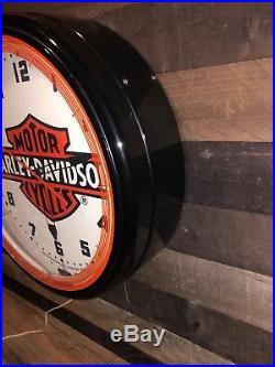 Vintage Harley-Davidson Motor Cycles Neon Clock 20 Advertising Sign