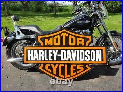 Vintage Huge Harley Davidson 50x 33 Porcelain Shop Sign Motorcycle Garage