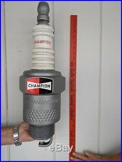 Vintage Large Plastic Champion Spark Plug Sign Display Garage Mancave 23 Inches