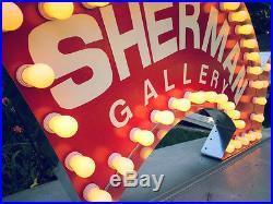 Vintage Marquee Light Theater art ARROW 5fW x 31H x 46D OUTDOOR