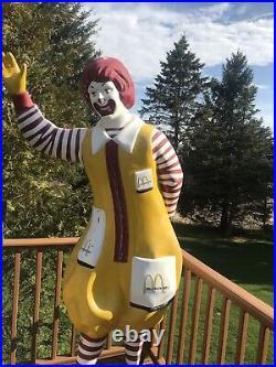 Vintage McDonald 1960's/1970's Ronald McDonald Playground Statue 6 1/2 ft, tall