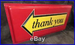 Vintage McDonald's Drive Thru Thank you Sign Plastic