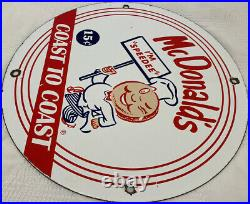 Vintage Mcdonald's Porcelain Sign Speedee Pepsi Coke Piggly Wiggly In-n-out Gas