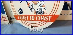 Vintage Mcdonalds Porcelain Gas Metal Station Restaurant Fast Food Burger Sign