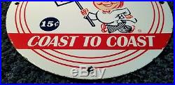 Vintage Mcdonalds Porcelain Sign Gas Metal Station Oil Gasoline Pump Burger