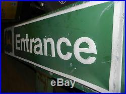 Vintage Metal 1970's John Deere Dealership ENTRANCE Sign Old Logo 40 Tall