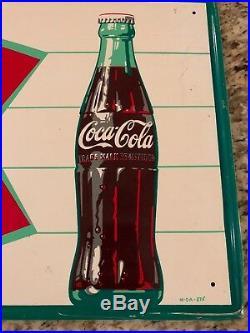Vintage Metal Coca-Cola Advertising Sign Sign Of Good Taste