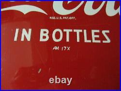 Vintage Metal Enamel Advertising Sign Coke Coca-cola Button 12