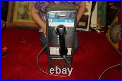 Vintage Metal Push Button Dial Coin-Op Pay Phone Payphone Telephone Sign