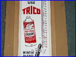 Vintage Metal Trico Wiper Blade Gas Oil Thermometer Sign Auto & Can Graphics