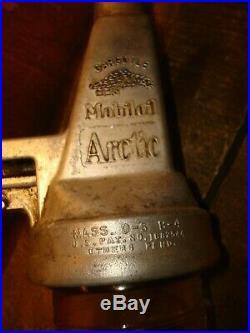 Vintage Mobil Motor Oil Can Arctic Filpruf Bottle, Gargoyle Sign Bottle