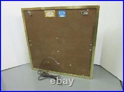 Vintage Monroe Shock Absorber Lighted Clock Sign, Dualite Clock