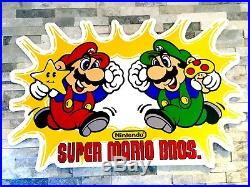 Vintage NES Nintendo Store Super Mario Advertising Sign Artwork Decor Man Cave